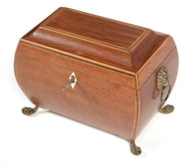 Lot 791 - Regency partridge wood tea caddy