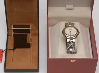 Lot 227 - Lady's wristwatch and light by S.J. Dupont, Paris.