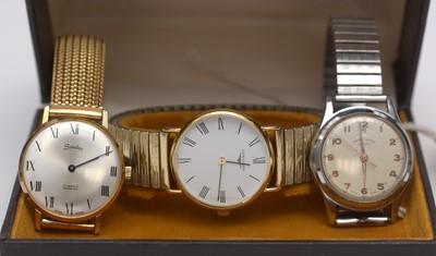 Lot 229 - Three wristwatches.