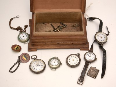 Lot 253 - Selection of pocket and wristwatches; and other items.