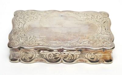 Lot 209 - A Victorian silver snuff box.