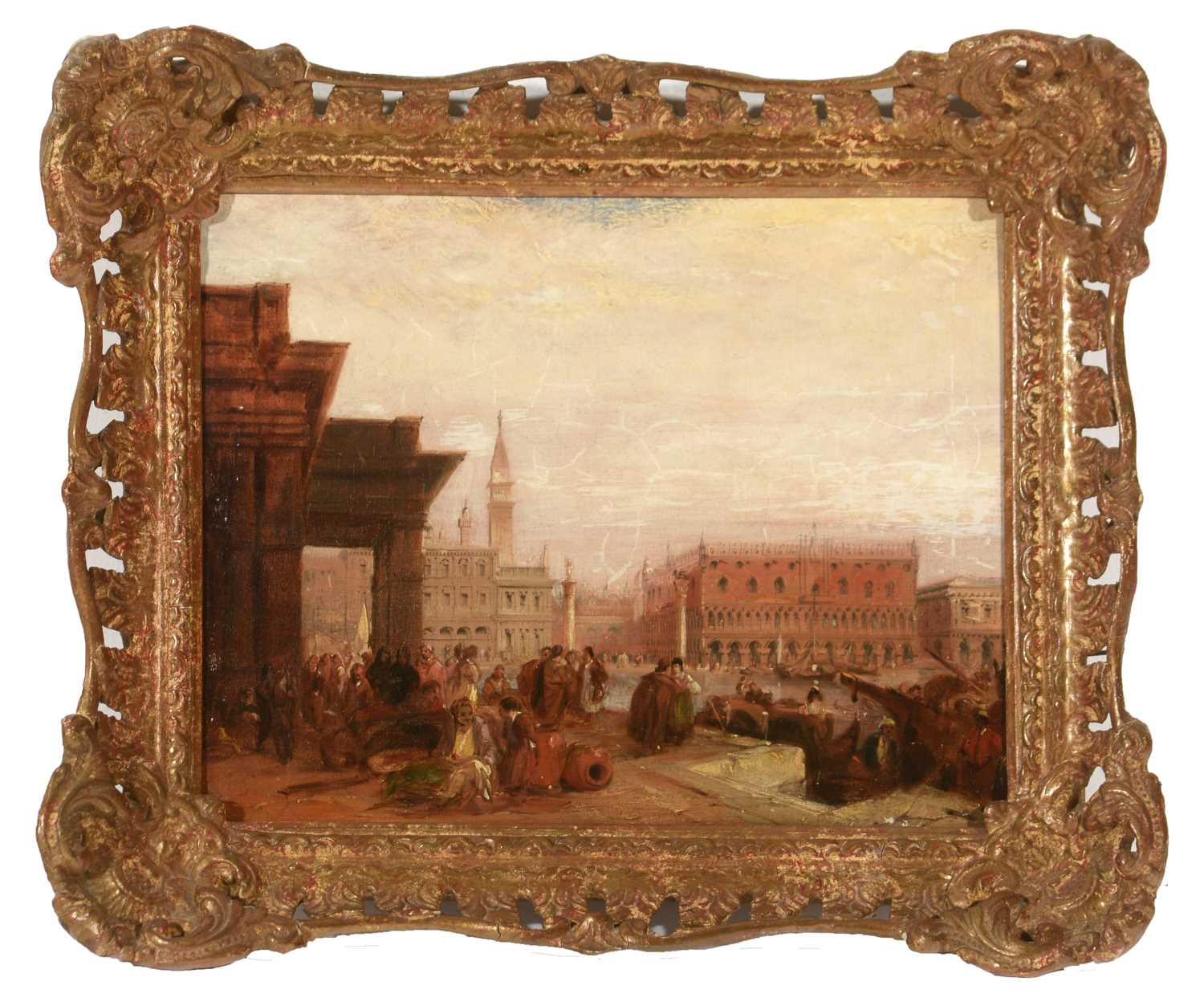 Lot 350 - Circle of James Holland - oil.