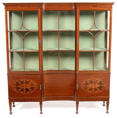 Lot 877 - Edwardian style display cabinet