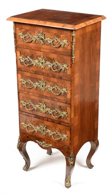 Lot 878 - French 19th Century style walnut chest of drawers