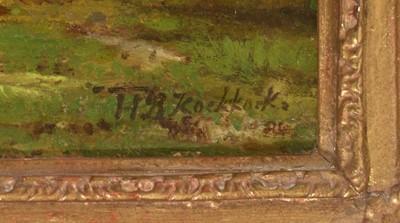 Lot 393 - Hendrik Barend Koekkoek - oil.