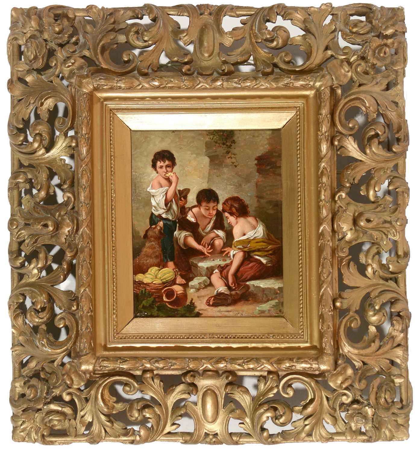 Lot 351 - H* Gibson after Murillo - oil.