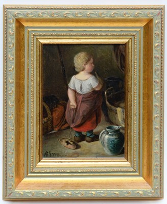 Lot 345 - Alfred H Green - oil on board