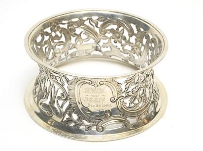 Lot 154 - A late Victorian silver dish or potato ring.