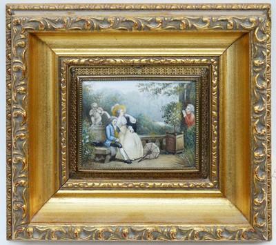 Lot 311 - * Challe - miniature watercolour