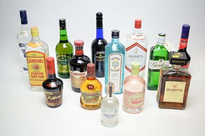 Lot 314 - Various bottles of spirits and liqueurs.