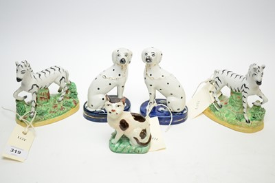 Lot 319 - Staffordshire figures - various.