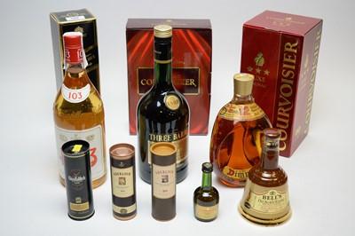 Lot 320 - Bottles of Brandy, miniatures, etc.