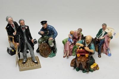 Lot 332 - Six Royal Doulton figures.