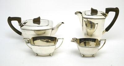 Lot 184 - An Elizabeth II Art Deco style four-piece tea service.