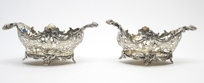 Lot 140 - A pair of Victorian silver two-handled bowls.