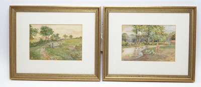 Lot 313 - Joseph Jobling - pair watercolours