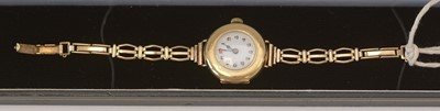 Lot 175 - 18ct gold cased wristwatch