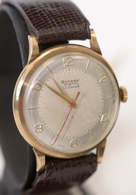 Lot 176 - Rotary gold cased wristwatch