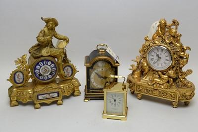 Lot 364 - Four clocks.