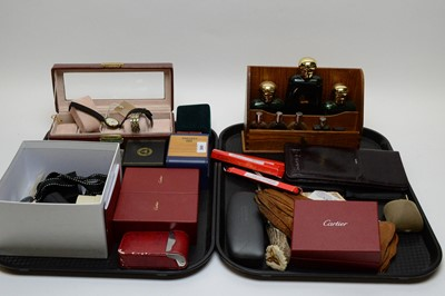 Lot 366 - Cartier jewellery/watch cleaning kits; and other miscellaneous items.