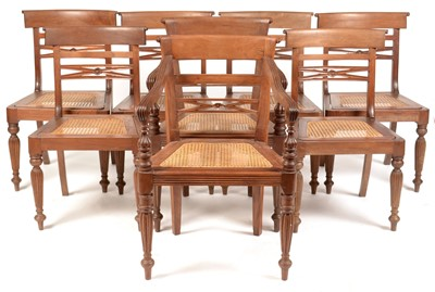 Lot 859 - Set of eight 19th Century mahogany dining chairs