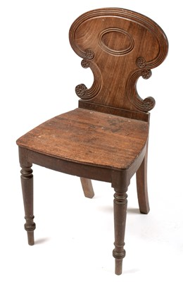 Lot 860 - Regency mahogany hall chair