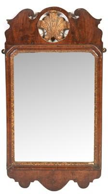 Lot 782 - Georgian style mahogany fret carved mirror
