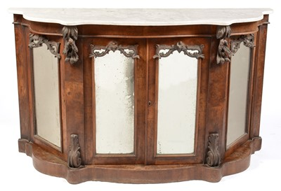 Lot 866 - Victorian Carrara marble topped serpentine chiffonier