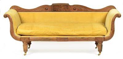 Lot 867 - Regency mahogany scroll end sofa