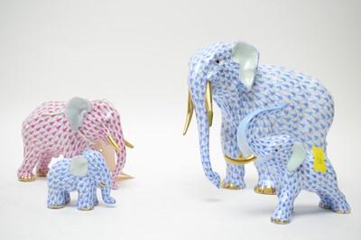 Lot 416 - Four Herend elephants.