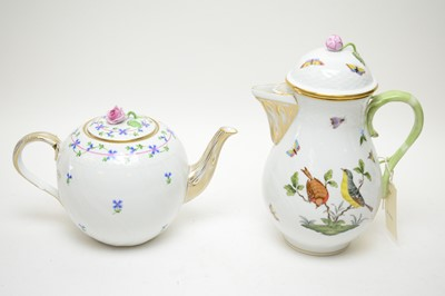 Lot 418 - Herend coffee pot; and Herend teapot.