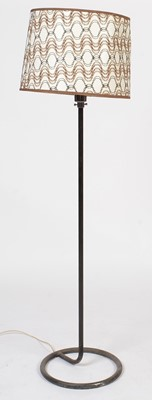 Lot 788 - A mid-20th Century wrought and chromed metal lamp standard