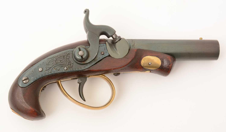 Lot 1006 - 20th Century replica percussion pistol  / 20th Century replica percussion pistol  / Replica percussion pistol  / Replica percussion musket  / 20th Century bowie knife