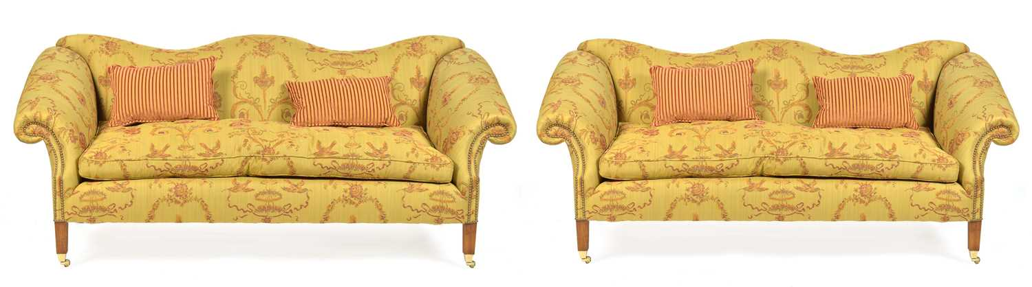 870 - Pair of Queen Anne style sofas