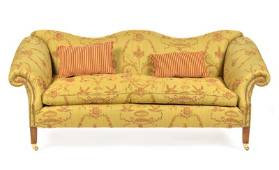 Lot 870 - Pair of Queen Anne style sofas