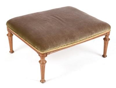 Lot 875 - Victorian walnut stool