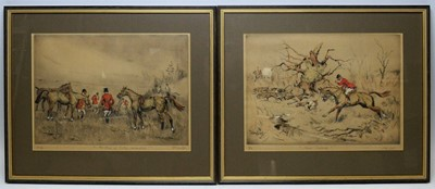 Lot 270 - Tom Carr - Coloured etchinngs