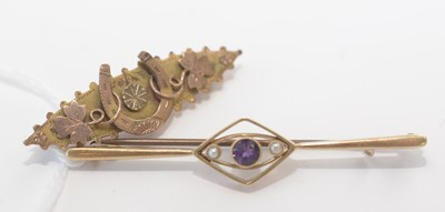 Lot 165 - Two brooches