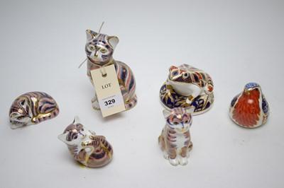 Lot 329 - Six Royal Crown Derby Imari pattern paperweights