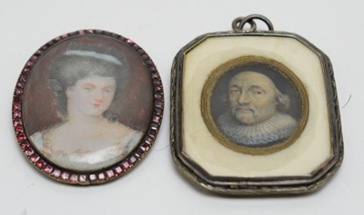 Lot 273 - British School, 17th Century and 18th Century - miniatures