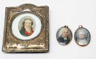 Lot 274 - Continental School and British School, 18th Century - miniatures