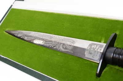 "Lot 1056 - A Wilkinson Sword ""Operation Desert Storm"" commemorative Fairbairn Sykes FS commando knife."