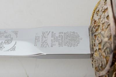 Lot 1058 - A Wilkinson Sword royal commemorative sword.