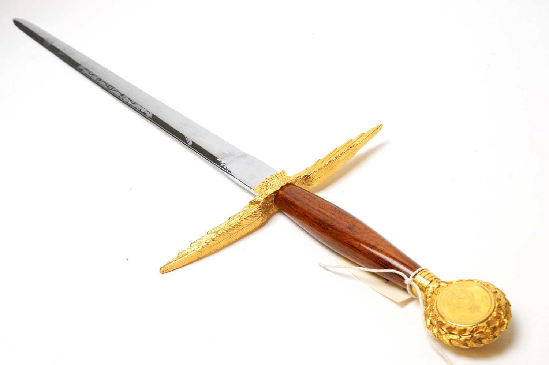 Lot 1059 - A limited edition Wilkinson Sword Battle of Britain commemorative RAF sword.