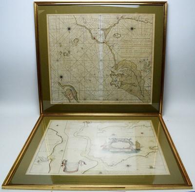 Lot 256 - Gerard Van Keulen and Capt G. Collins - coloured engravings