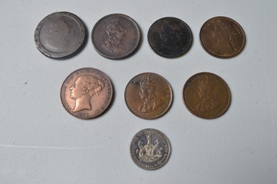 Lot 214 - Pennies and other coins