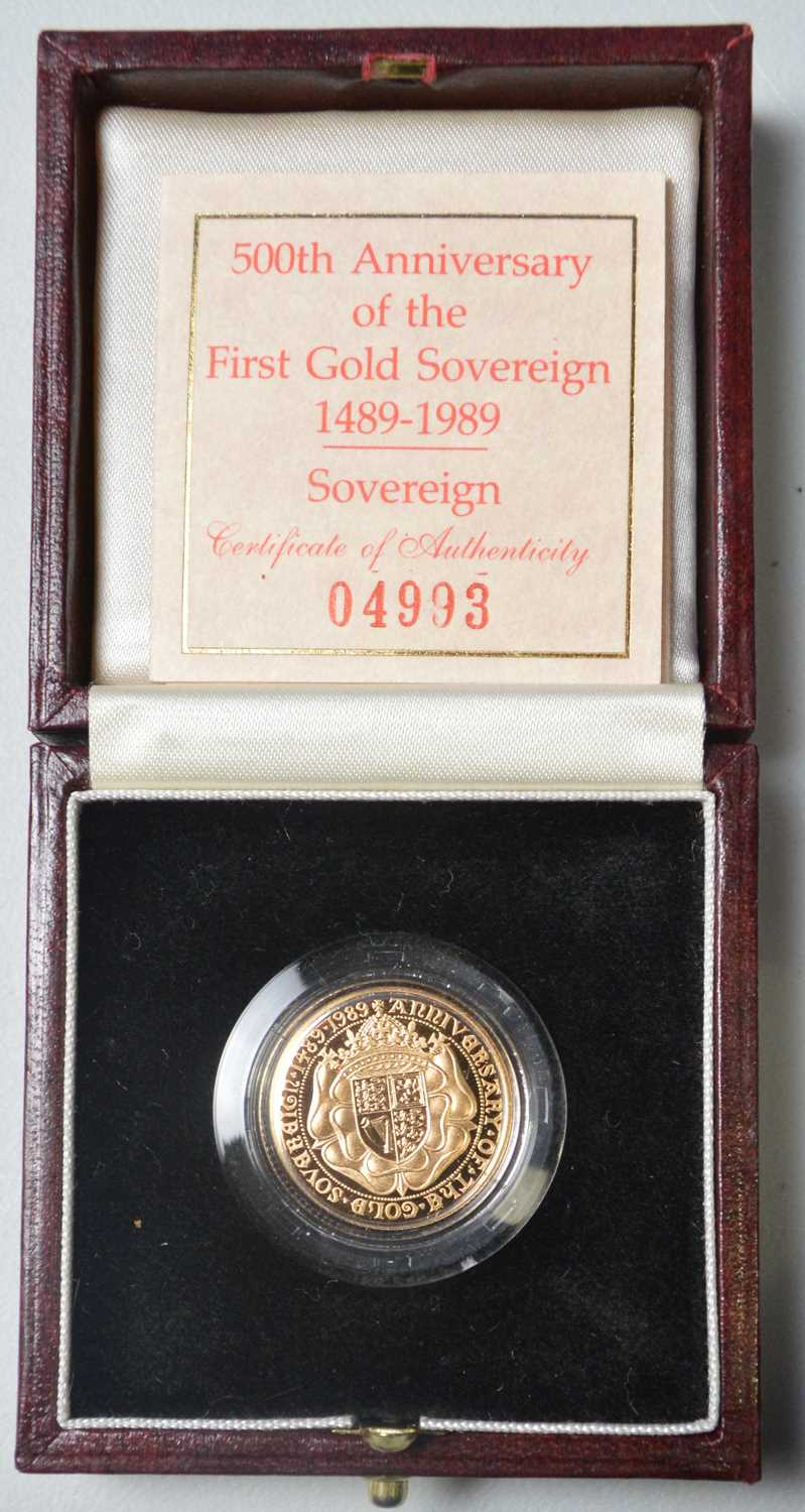 228 - QEII gold proof sovereign.