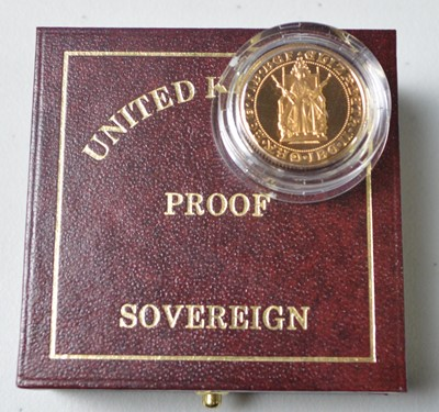 Lot 228 - QEII gold proof sovereign.