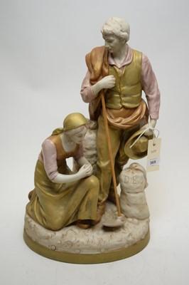 Lot 365 - Royal Dux porcelain figure group