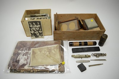 Lot 380 - Vintage photographs, postcards, and other items.
